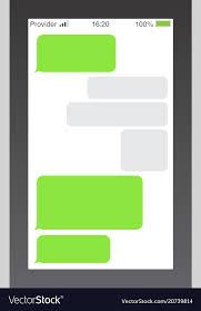 Messenger short message service bubbles text chat Vector Image
